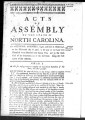 Acts of assembly of the State of North Carolina [1782] Laws of North-Carolina