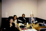 "Photograph of Debbie Conway hosting the radio show """"Economic Empowerment into the 21st Century,"""" circa 1998"