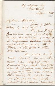Letter from James Miller M'Kim, New York, [N.Y.], to William Lloyd Garrison, Sept[ember] 12th [1865]