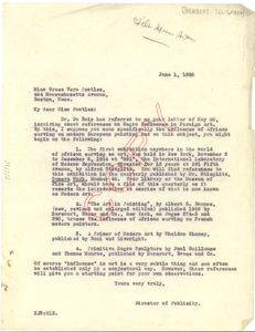 Letter from the NAACP to Grace Vera Postles