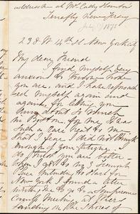 Letter from Margaret Eleanor Parker, New York, [N.Y.], [July 1875]