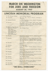 Program from the March on Washington