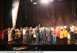 [Curtis King on Stage with Performers] Hip Hop Broadway: The Musical