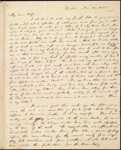 Letter from William Lloyd Garrison, Boston, [Mass.], to Helen Eliza Garrison, Nov. 11, 1835