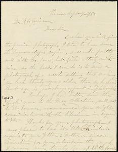 Letter from Jane Elizabeth Jones, Vernon, [New York], to William Lloyd Garrison, [18]75 Sept[ember] 7