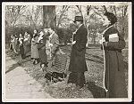 Howard University students picket the National Crime Conference in Washington, D.C., Dec., 1934 when the leaders of the conference refused to discuss lynching as a national crime