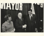 Richard J. Daley and Muhammad Ali on primary election night