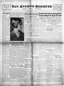 San Antonio Register (San Antonio, Tex.), Vol. 2, No. 11, Ed. 1 Friday, June 17, 1932 San Antonio Register