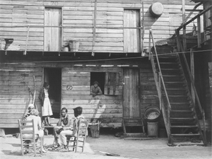 """Pahokee Hotel,"" migrant vegetable picker's quarters. Near Homestead, Florida"