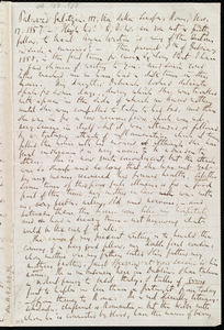 Letter from Richard Davis Webb, [Dublin?, Ireland], to Anne Warren Weston, 8th[-12th] of February 1858