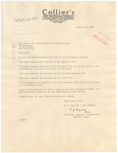 Letter from Collier's to the NAACP