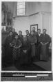Group portrait of a western priest and Japanese boys, Japan, ca. 1922-1923