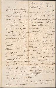 Letter from Joshua Leavitt, New York, to Amos Augustus Phelps, June 24 /'40