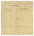 Receipt for sale of slave, 1803