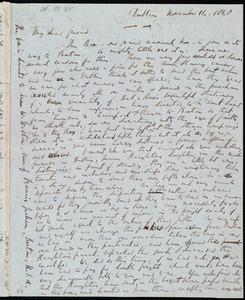 Letter from Richard Davis Webb, Dublin, [Ireland], to Anne Warren Weston, November 14, 1848
