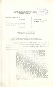 Memorandum Supporting Motion for Award of Attorney's Fee
