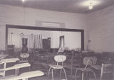 Interior of Mt. Sinai School in Pine Level, Alabama.