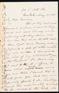 Letter from Oliver Johnson, New York, [N.Y.], to William Lloyd Garrison, May 25, 1865