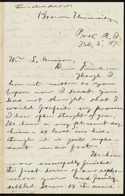 Thumbnail for Letter to] Wm L. Garrison, Dear Friend [manuscript