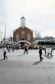 Marchers passing Dexter Avenue Baptist Church in Montgomery, Alabama, at the conclusion of the 20th anniversary reenactment of the Selma to Montgomery March.