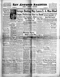 San Antonio Register (San Antonio, Tex.), Vol. 24, No. 26, Ed. 1 Friday, August 6, 1954 San Antonio Register