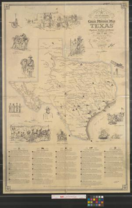 Texas Land Commissioner Jerry Patterson's great military map of Texas : showing significant conflicts and events between 1685 and 1916.
