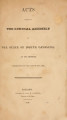 Acts passed by the General Assembly of the State of North Carolina [1825] Laws of the State of North-Carolina.