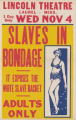 Lincoln Theaters feature film, Slaves in Bondage