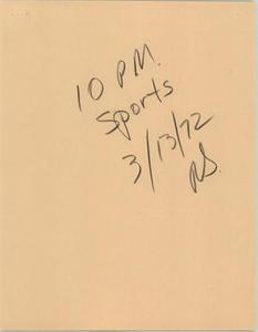 News Script: 10 PM sports
