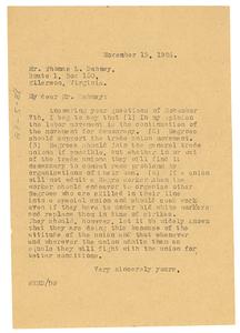 Letter from W. E. B. Du Bois to Thomas L. Dabney