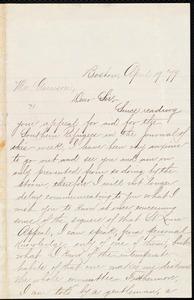 Letter from Josephine St. Pierre Ruffin, Boston, [Mass.], to William Lloyd Garrison, April 19 [18]79