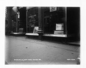 Sidewalk at 360-362 Washington St., Boston, Mass., November 13, 1904