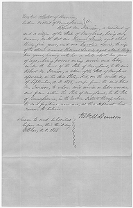 Affidavit of Robert M. Denison in the Matter of the Lewises, Fugitive Slaves