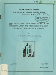 Effects of turbulence stimulators on the boundary layer and resistance of a ship model as detected by hot wires