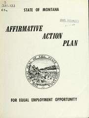 Affirmative action plan, January, 1976, 1976