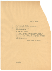 Letter from W. E. B. Du Bois to The Paul Laurence Dunbar Apartments, inc.