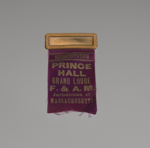 Badge for a representative of the Prince Hall Grand Lodge of Massachusetts