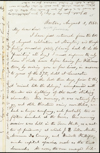 Letter from William Lloyd Garrison, Boston, [Mass.], to Wendell Phillips Garrison, August 1, 1862