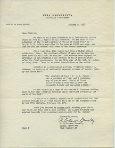 Circular letter from W. Dickerson Donnelly to Fiskite