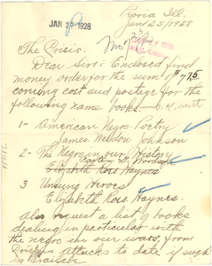 Letter from Capt. Roy B. Tisdell to Crisis