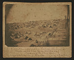Andersonville Prison, Georgia. South-west view of the stockade Showing the dead line /