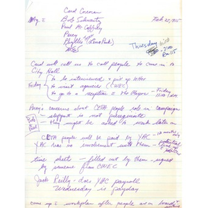 Meeting notes, Citywide Educational Coalition, February 25, 1975