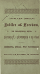 The Centennial Jubilee of Freedom at Columbus, Ohio, Saturday, September 22, 1888 : orations, poems, and addresses [cover page]