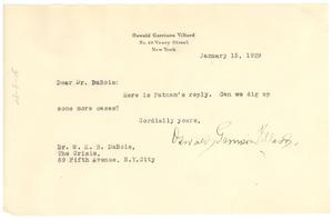 Letter from Oswald Garrison Villard to W. E. B. Du Bois