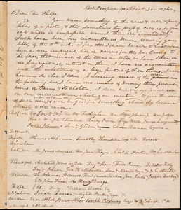 Letter from Stephen Thurston, West Prospect, to Amos Augustus Phelps, 1834 December 30