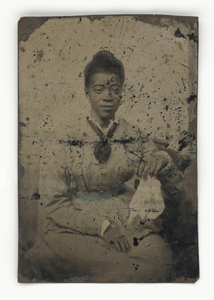 Tintype of a woman