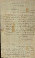 Big Warrior (Creek Agency) and Samuel Hawkins letter to D.B. Mitchell, 1820