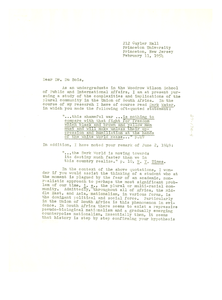 Letter from Robert C. Bennett to W. E. B. Du Bois