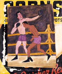 Joe Louis and Unidentified Boxer