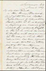 Letter from Samuel Joseph May, Syracuse, N.Y., to William Lloyd Garrison, June 4, 1869